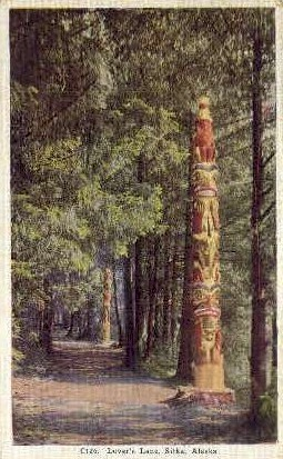 Lover's Lane - Sitka, Alaska AK Postcard