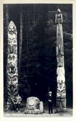 Entrance to Lover's Lane - Sitka, Alaska AK Postcard