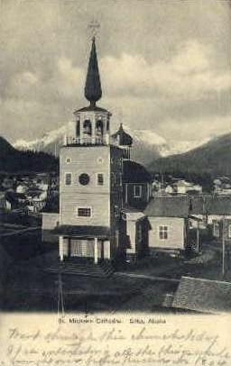 St. Michaels Cathedral - Sitka, Alaska AK Postcard