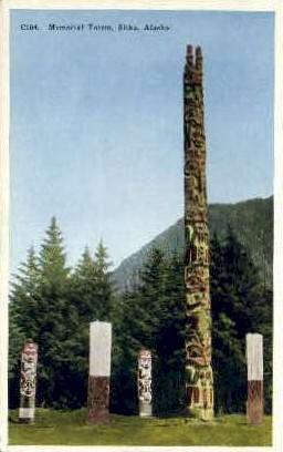 Memorial Totem - Sitka, Alaska AK Postcard