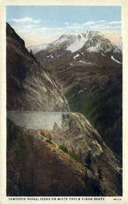 Sawtooth Range - Alaska AK Postcard