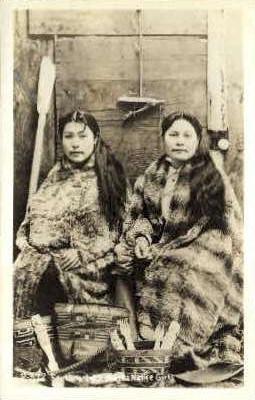 Real Photo - Southeastern Eskimo Girls - Misc, Alaska AK Postcard