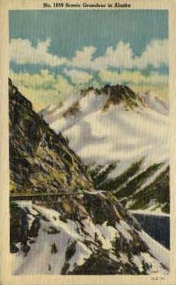 Scenic Grandeur - Misc, Alaska AK Postcard