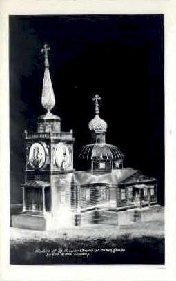 Replica of Russian Church - Sitka, Alaska AK Postcard
