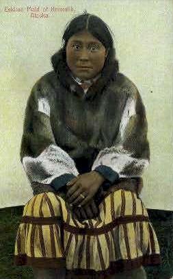 Eskimo Maid of Keewalik - Alaska AK Postcard