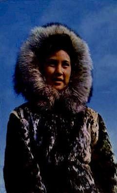 Eskimo Girl wearing Parka - Misc, Alaska AK Postcard