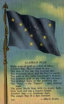 Alaska' Flag - Misc Postcard