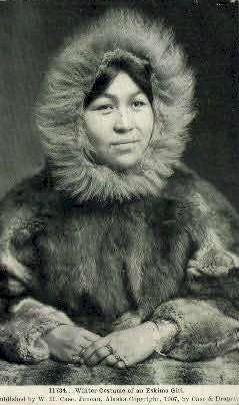Winter Costume - Misc, Alaska AK Postcard
