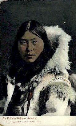 An Eskimo Belle of Alaska - Misc Postcard