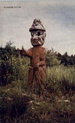 Alaskan Totem - Misc Postcard