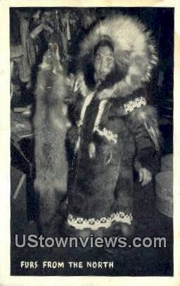 Furs, North - Misc, Alaska AK Postcard