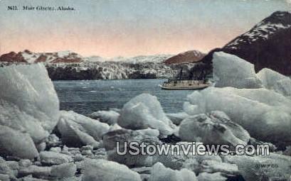 Muir Glacier, AK,;    Muir Glacier, Alaska Postcard