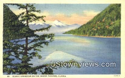 Inside Passage, AK,;    Inside Passage, Alaska Postcard