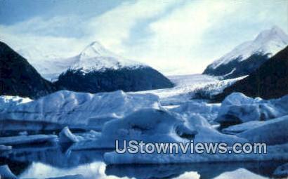 Portage Glacier, Alaska,;   Portage Glacier, AK Postcard