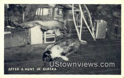 Hunt - Misc, Alaska AK Postcard