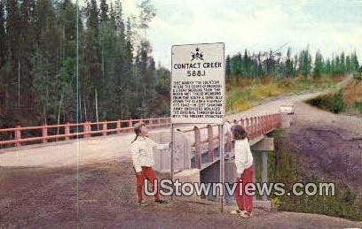 Contact Creek, AK,;    Contact Creek, Alaska Postcard