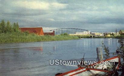 Chena River, AK,;    Chena River, Alaska Postcard