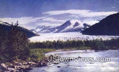 Mendenhall Glacier - Fairbanks, Alaska AK Postcard