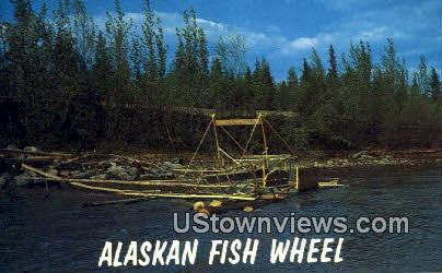Alaskan Fish Wheel - Fairbanks Postcard