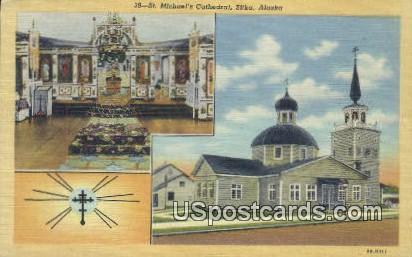 St Michael's Cathedral - Sitka, Alaska AK Postcard