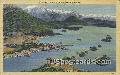 Inside Passage - Sitka, Alaska AK Postcard