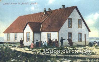 School House House - St. Michels, Alaska AK Postcard