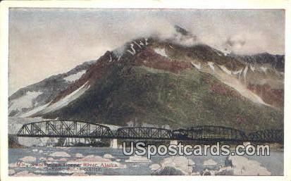 Steel Bridge - Copper River, Alaska AK Postcard