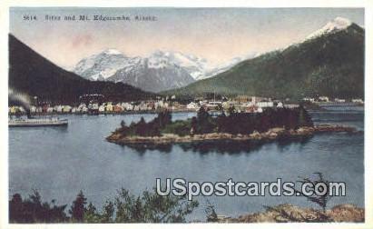 Sitka - Mt. Edgecumbe, Alaska AK Postcard
