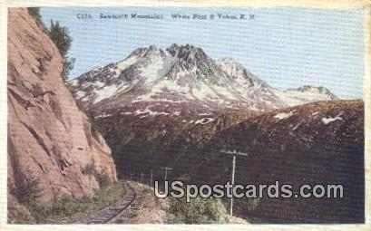 White Pass & Yukon RR - Sawtooth Mountains, Alaska AK Postcard