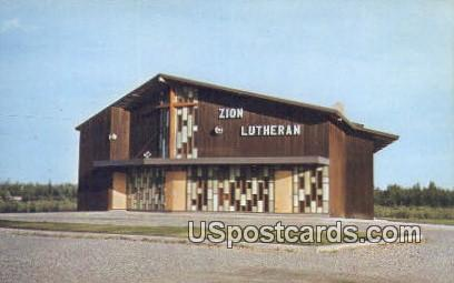 Zion Lutheran Church - Fairbanks, Alaska AK Postcard