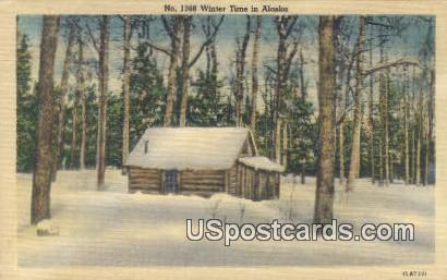 Winter Time - Misc, Alaska AK Postcard