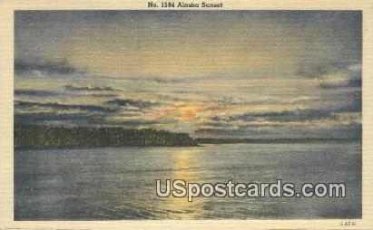 Alaska Sunset - Misc Postcard