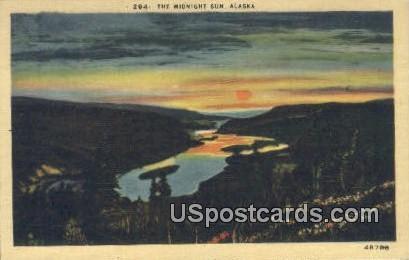 Midnight Sun - Misc, Alaska AK Postcard