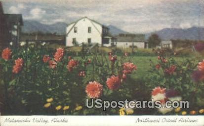 Northwest Orient Airlines - Matanuska Valley, Alaska AK Postcard
