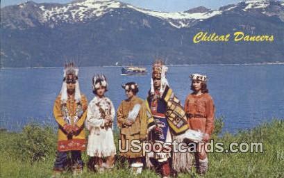 Chilkat Dancers - Lynn Canal, Alaska AK Postcard