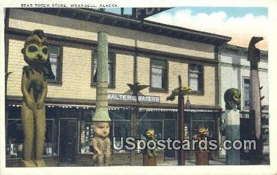 Bear Totem Store - Wrangell, Alaska AK Postcard