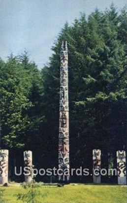Totel Pole Park - Sitka, Alaska AK Postcard