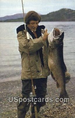 Alaskan 36-Pound Trout - Misc Postcard