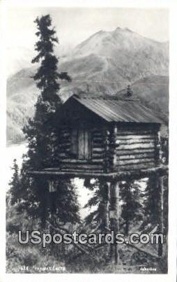 Real Photo Trapper's Cache - Misc, Alaska AK Postcard