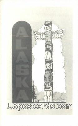 Totem Pole - Misc, Alaska AK Postcard