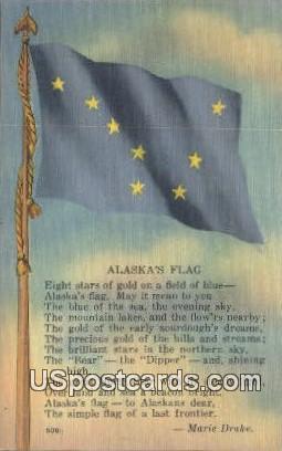Alaska's Flag - Misc Postcard