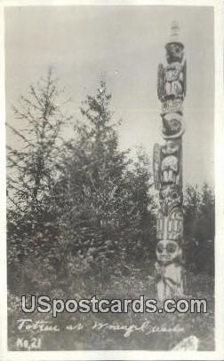 Real Photo Totem - Wrangell, Alaska AK Postcard