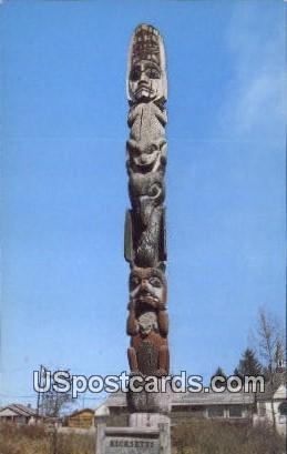 Kicksetti Totem - Wrangell, Alaska AK Postcard