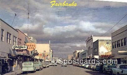 Second Ave - Fairbanks, Alaska AK Postcard