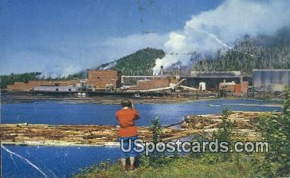 Pulp Mills - Misc, Alaska AK Postcard