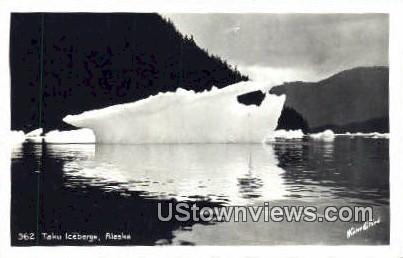 Taku Icebergs, AK,;    Taku Icebergs, Alaska Postcard