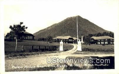 Sheldon Jaclson School - Sitka, Alaska AK Postcard