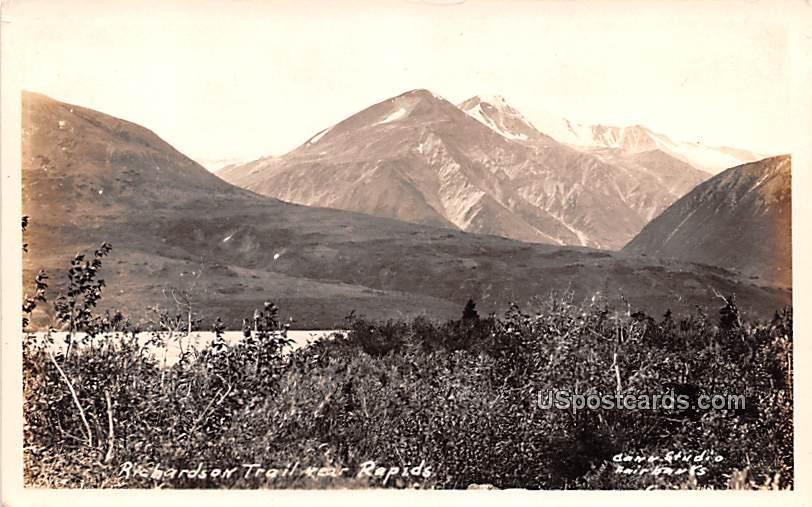 Richards on Trail - Rapids, Alaska AK Postcard