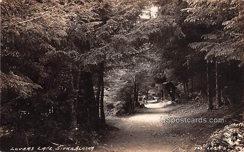 Lovers Lane - Sitka, Alaska AK Postcard