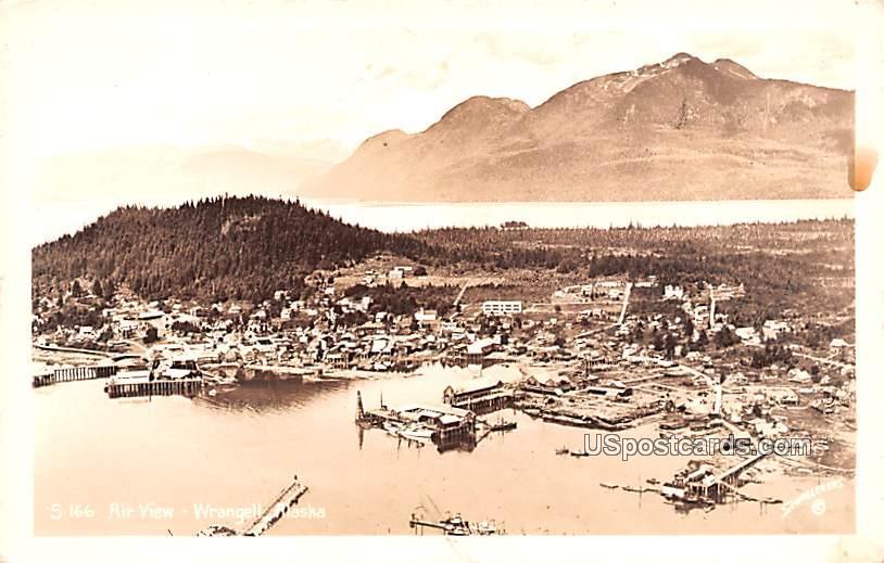 Air View - Wrangell, Alaska AK Postcard